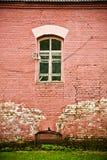 Alte Wand mit Fenster Lizenzfreies Stockbild