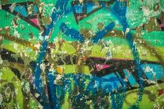Alte Wand mit Graffiti lizenzfreie stockfotografie