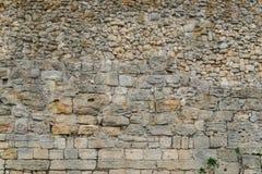 Alte Wand mit Maurerarbeit Stockfotografie