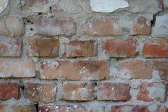 Alte Wand mit roten Backsteinen Stockbilder