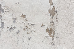 Alte Wand mit Schalenpflaster Stockbild