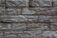 Alte Wand Nachahmung der Ziegelsteinmaurerarbeit vom Kunststein Stockfoto