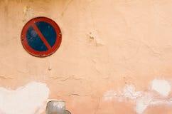 Alte Wand und Zeichenhintergrund Stockbild