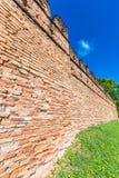 Alte Wand vom roten Backstein lizenzfreie stockbilder