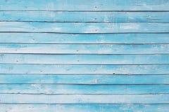 Alte Wand von gemalten blauen Brettern, Hintergrund, Beschaffenheit Stockfoto