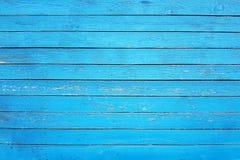 Alte Wand von gemalten blauen Planken, Hintergrund, Beschaffenheit Lizenzfreie Stockfotos