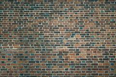 Alte Wand von roten Backsteinen Tapete der gewöhnlichen Gebäudewandbeschaffenheit Lizenzfreie Stockbilder