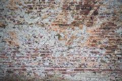 Alte Wand von roten Backsteinen Tapete der gewöhnlichen Gebäudewandbeschaffenheit Stockbild
