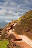 Alte Wand von Sigiriya-Palast, Sri Lanka Stockfotos