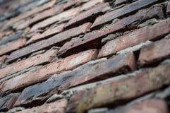 Alte Wand von Ziegelsteinen Lizenzfreies Stockfoto