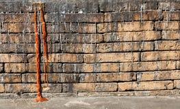 Alte Wandbeschaffenheit/alte Backsteinmauer Stockbild
