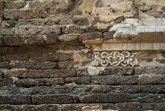 Alte Wandbeschaffenheit/alte Backsteinmauer Lizenzfreie Stockfotos