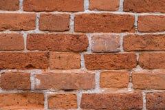 Alte Wandbeschaffenheit des roten Backsteins für Hintergrund Lehmziegelsteine für buildi Lizenzfreies Stockfoto
