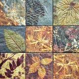 Alte Wandkeramikfliesenmuster handcraft von Thailand-Öffentlichkeit Stockbild