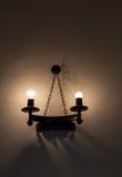 Alte Wandlampe Stockfotografie