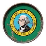 Alte Washington-Flagge Lizenzfreie Stockfotos
