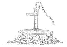 Alte Wasser-Pumpe Lizenzfreie Stockfotografie