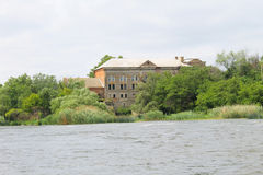 Alte Wassermühle in Migeya-Dorf Stockfotografie