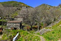 Alte Wasserm?hlen in Galizien stockbild