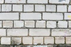 Alte weiße Backsteinmauer Lizenzfreies Stockbild