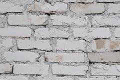 Alte weiße Backsteinmauer Stockbilder