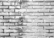 Alte weiße Backsteinmauer, Nahaufnahmehintergrundbeschaffenheit Stockfotos