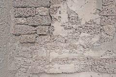 Alte weiße Backsteinmauer oder Lateritestein Lizenzfreies Stockfoto