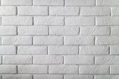Alte weiße Backsteinmauerbeschaffenheit Stockbild