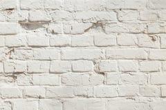 Alte weiße Backsteinmauerbeschaffenheit Lizenzfreie Stockbilder