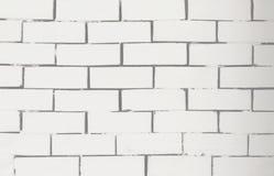 Alte weiße Backsteinmauerbeschaffenheit für Hintergrund Stockfotografie