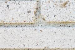 Alte weiße Backsteinmauernahaufnahme Lizenzfreies Stockbild