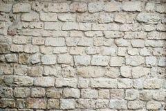 Alte weiße Backsteinmauernahaufnahme Stockfoto