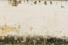 Alte weiße Betonmauer für Hintergrund Stockbild