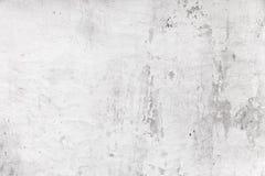 Alte weiße Betonmauer, grungy Hintergrund Stockfotos