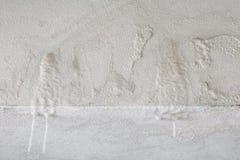 Alte weiße Betonmauer und Kalkstein mit Kopienraum addieren Text Stockfoto