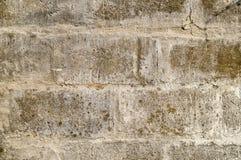 Alte weiße Blockwand Lizenzfreies Stockfoto