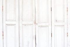 Alte weiße Holztür lizenzfreie stockbilder
