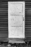 Alte weiße Holztür lizenzfreies stockfoto