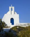 Alte weiße Kirche Stockfoto