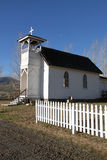 Alte weiße Kirche Stockfotos