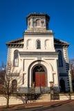 Alte weiße Kirche in Richmond, Virginia lizenzfreie stockfotos