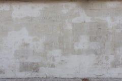 Alte weiße Steinwand Lizenzfreies Stockfoto