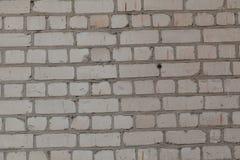 Alte weiße und graue Backsteinmauer Stockbilder