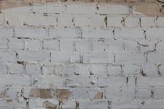 Alte weiße und graue Backsteinmauer Stockfotos