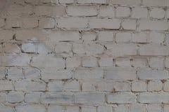 Alte weiße und graue Backsteinmauer Lizenzfreies Stockfoto