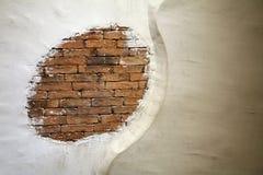 Alte weiße Wand Stockfotografie