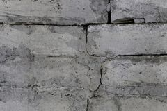 Alte weiße Backsteinmauer lizenzfreies stockfoto