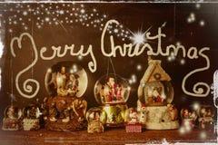Alte Weihnachtskarte frohe Weihnachten Lizenzfreie Stockfotografie