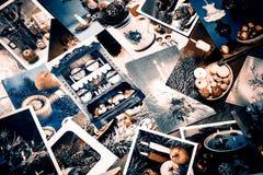 Alte Weihnachtspostkarten Lizenzfreies Stockbild