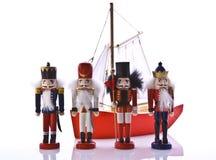 Alte Weihnachtsspielwaren Lizenzfreie Stockbilder
